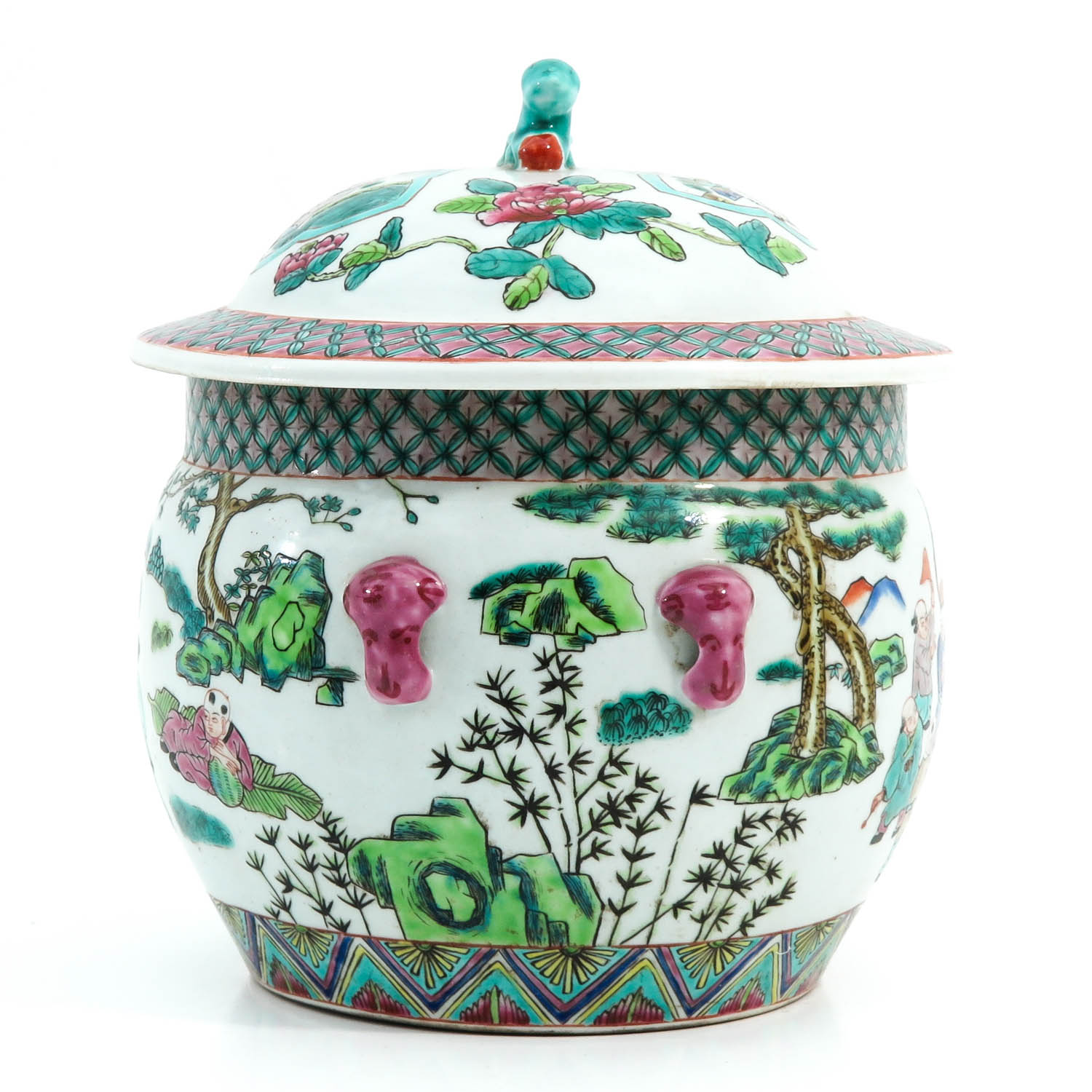 A Famille Rose Pot with Cover - Image 4 of 10