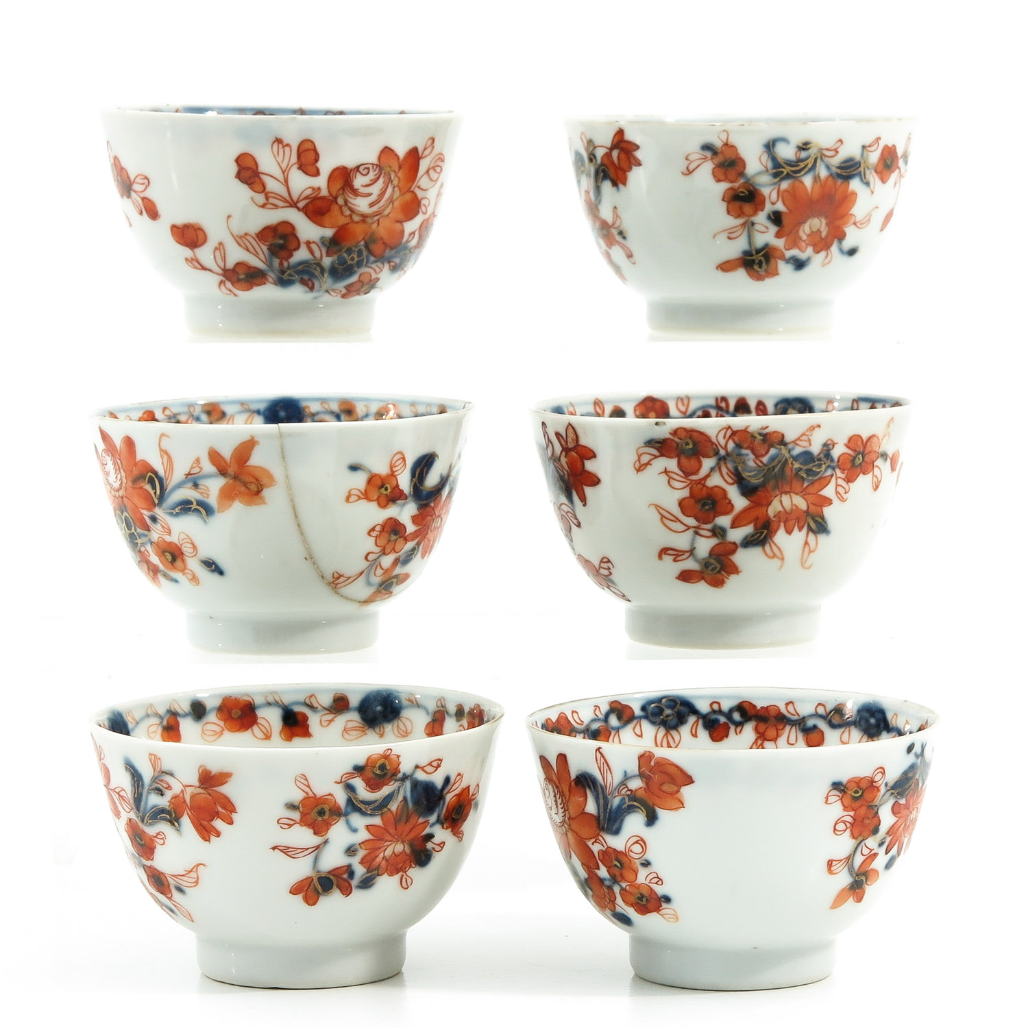 A Collection of Imari Cups and Saucers - Image 2 of 10