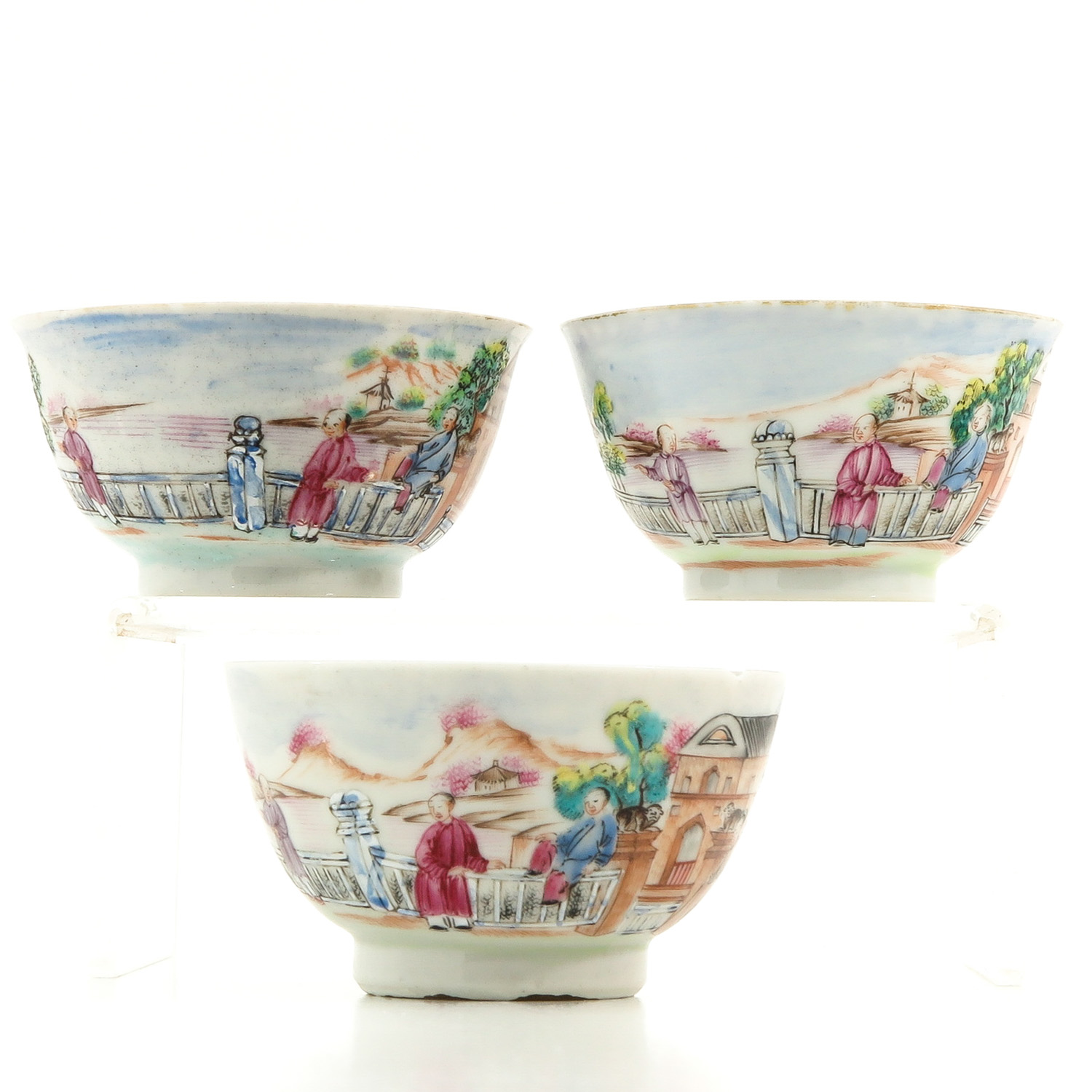 A Series of 3 Cups and Saucers - Image 4 of 10