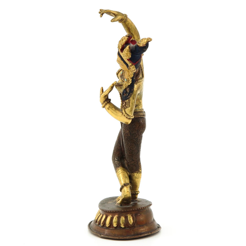 A Bronze Quanyin Sculputre - Image 2 of 10
