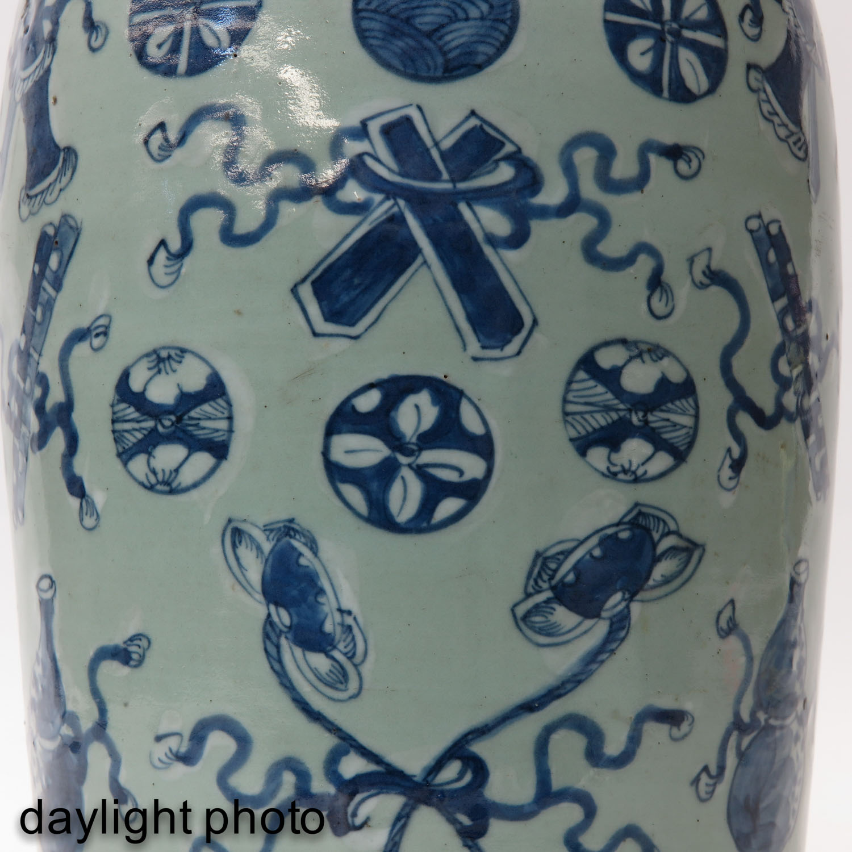 A Celadon and Blue Vase - Image 9 of 10