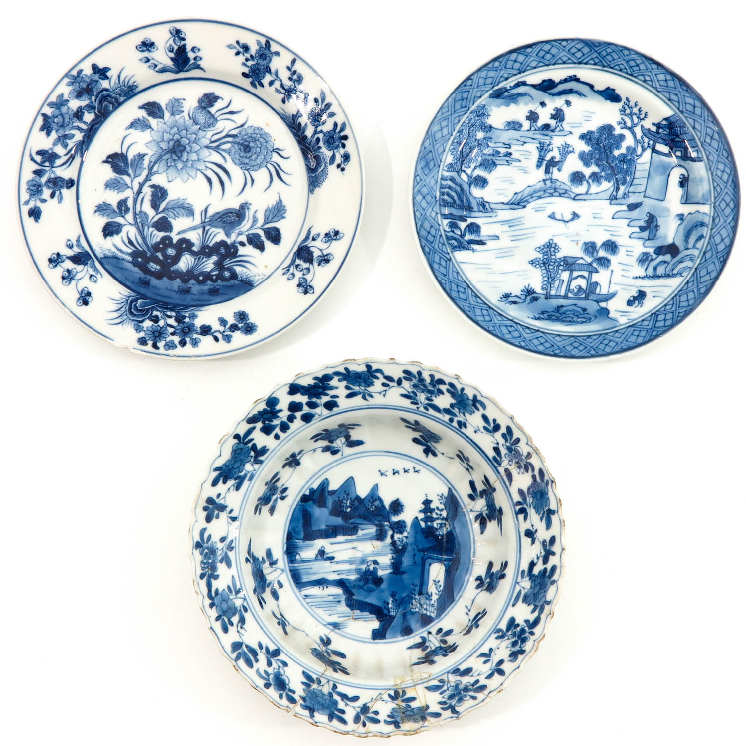 A Collection of 9 Blue and White Plates - Image 5 of 10