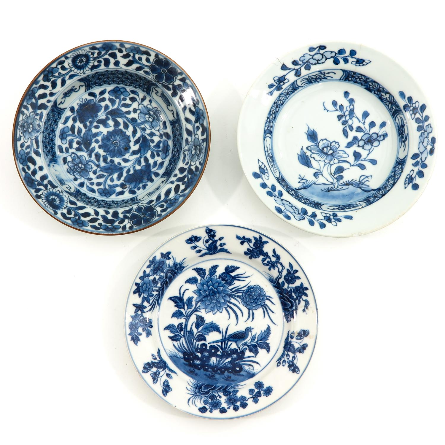 A Collection of 9 Blue and White Plates - Image 7 of 10