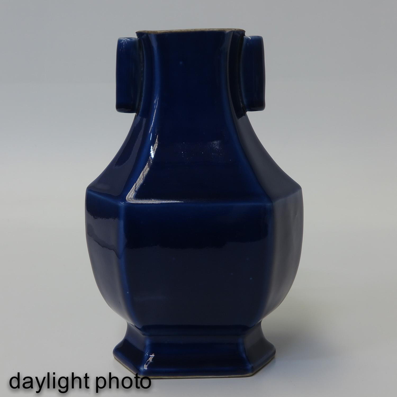 A Blue Glaze Hu Vase - Image 7 of 10