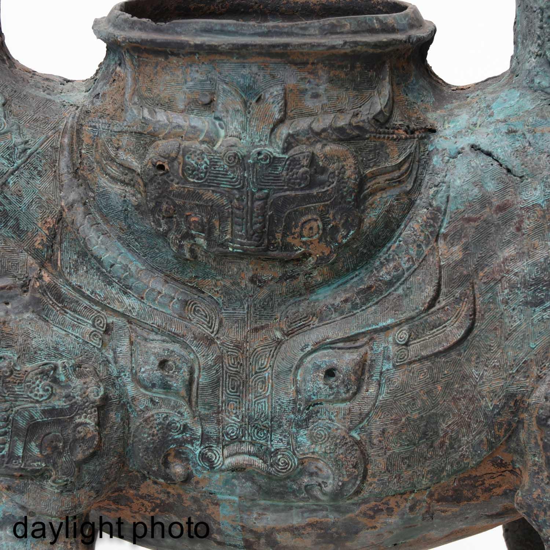 A Metal Figural Censer - Image 10 of 10