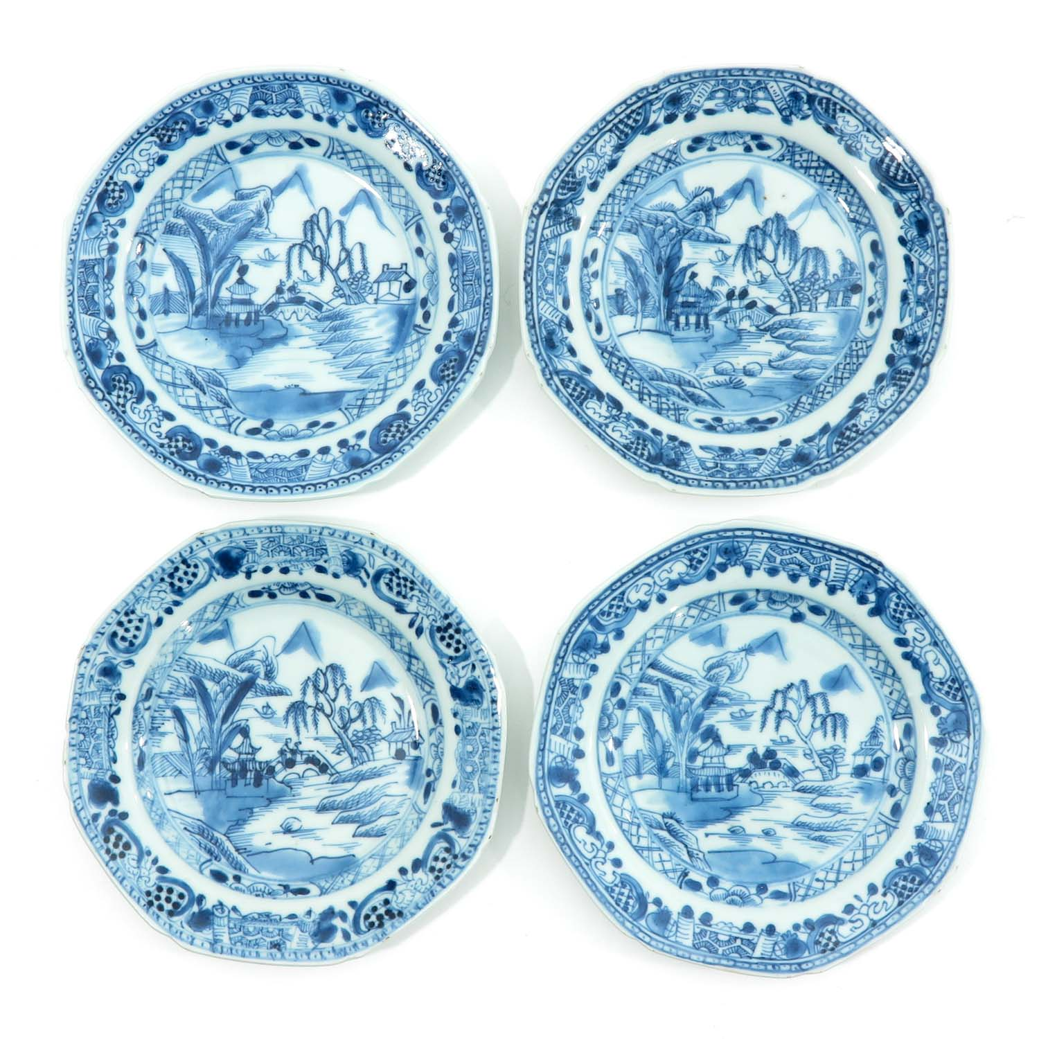 A Series of 8 Blue and White Plates - Image 3 of 9