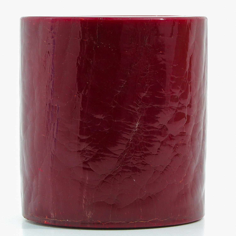 A Red Peking Glass Brushpot - Image 3 of 9