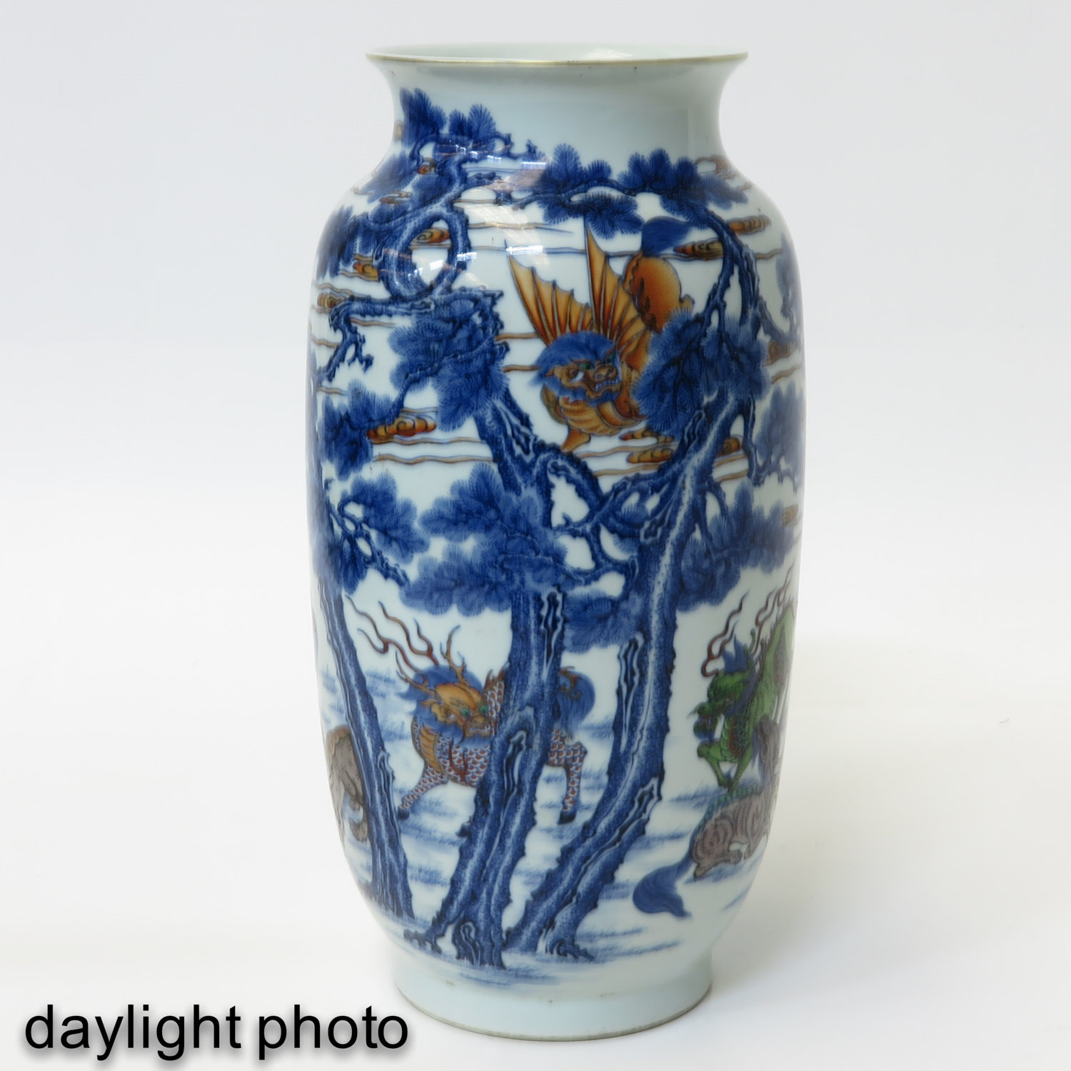 An Iron Red and Blue Decor Vase - Image 7 of 10