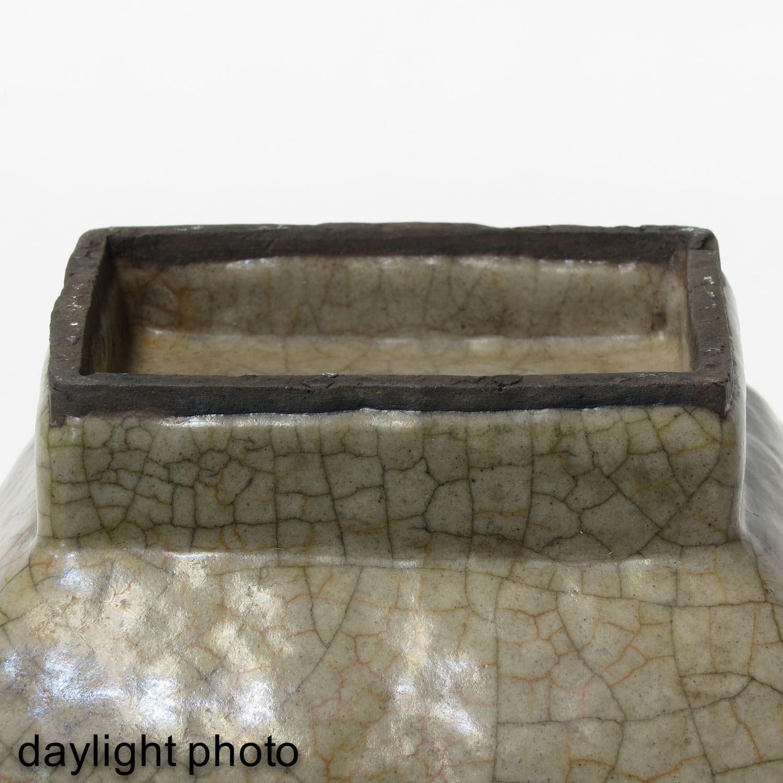 A Crackle Decor Hu Vase - Image 8 of 9
