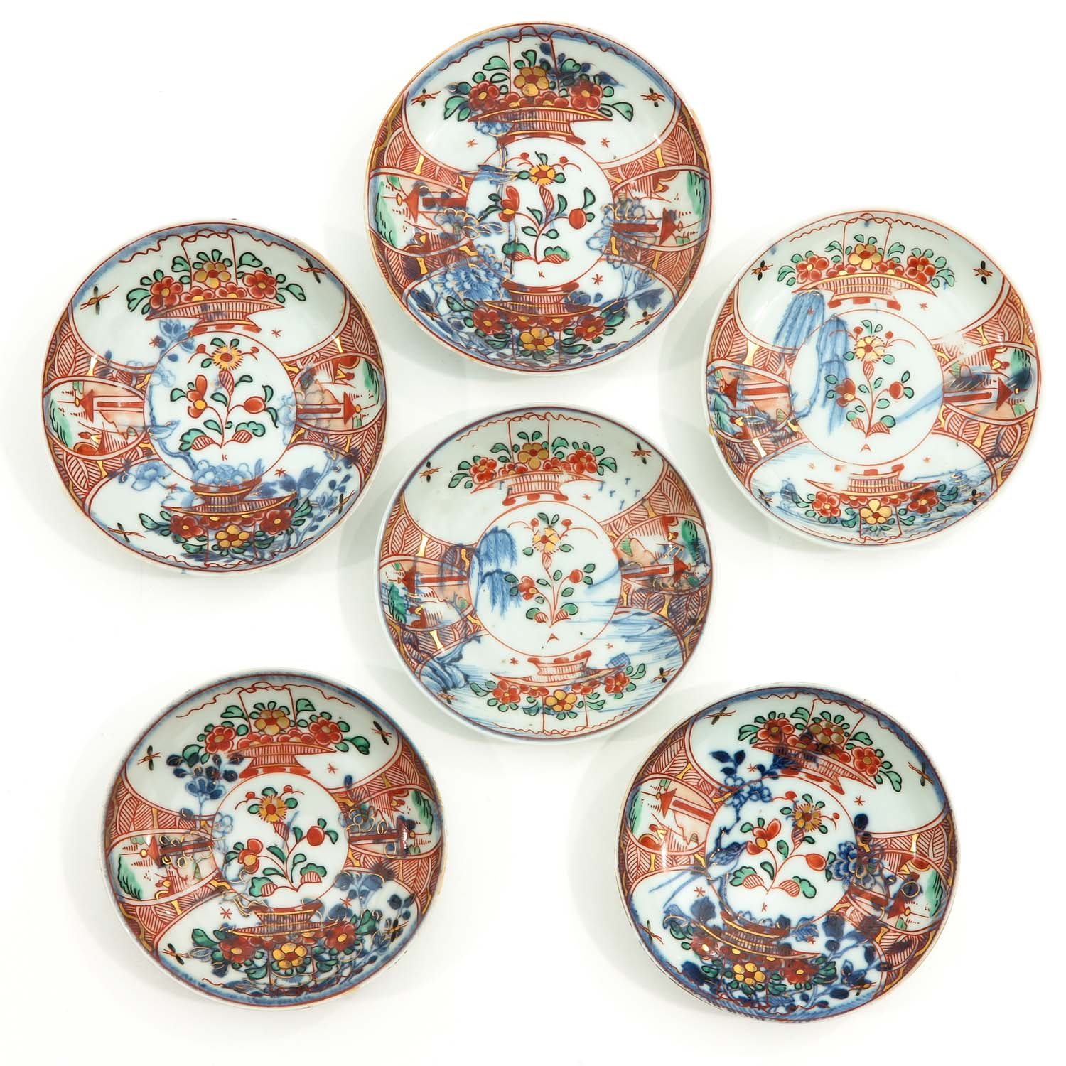 A Series of 6 Cups and Saucers - Image 7 of 10