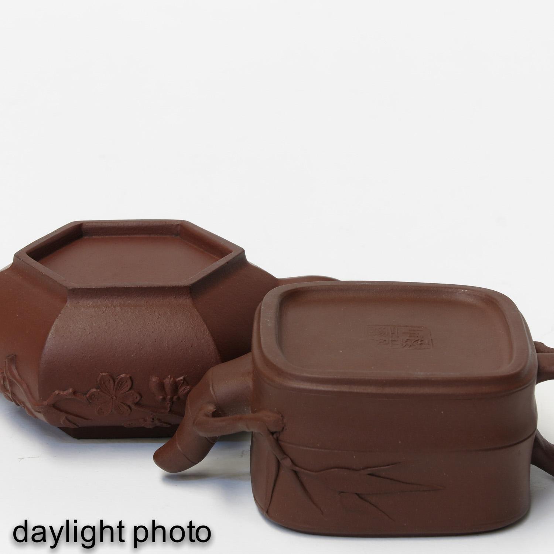 2 Yixing Teapots - Image 8 of 10