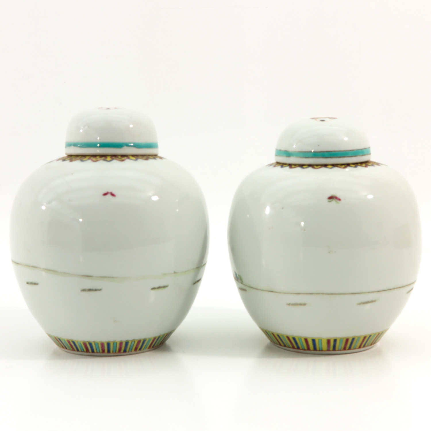 A Pair of Famille Rose Ginger Jars - Image 3 of 9