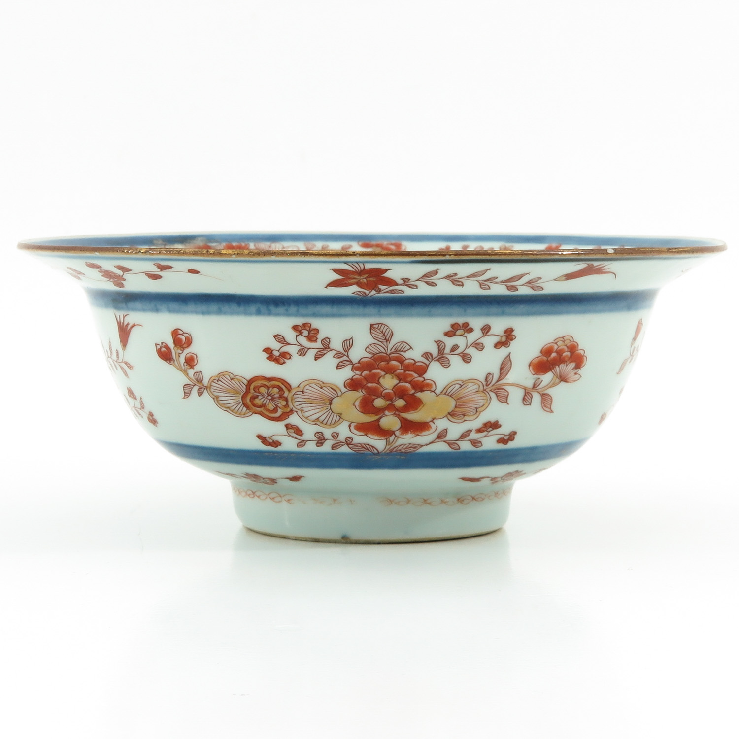 A Blue and Iron Red Bowl