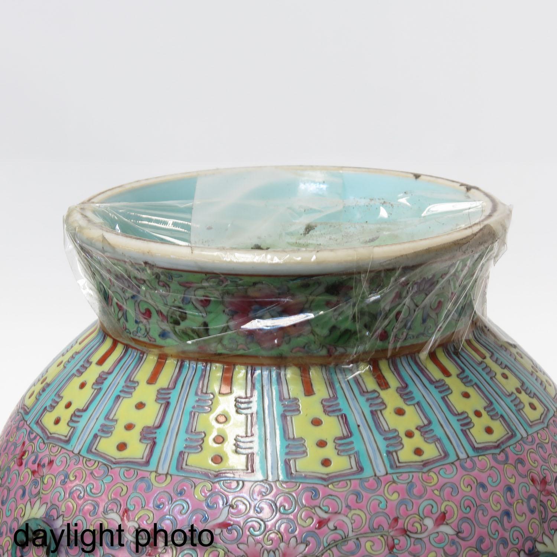 A Famille Rose Vase - Image 8 of 9