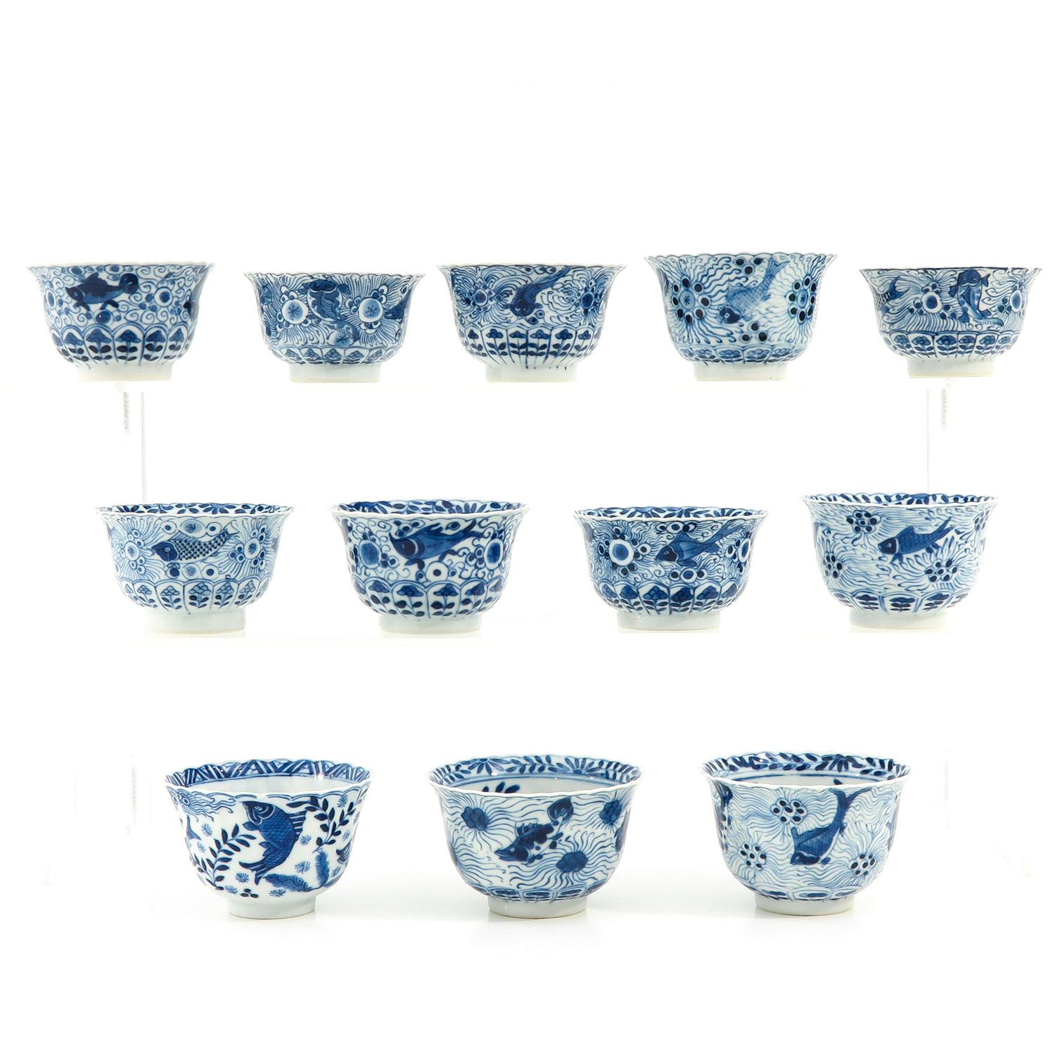 A Series of 12 Cups and Saucers - Image 2 of 10