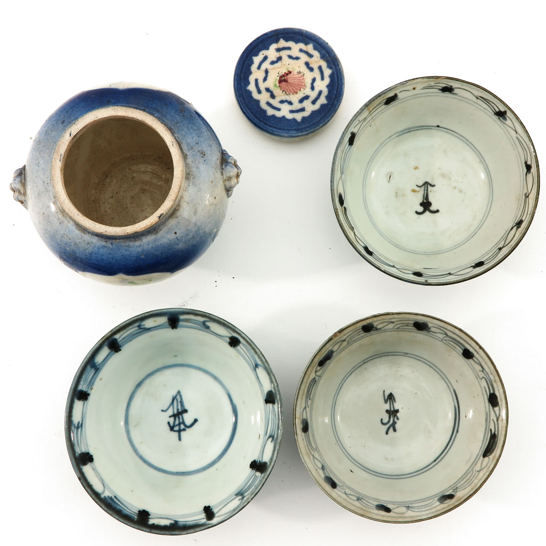 A Ginger Jar and 3 Bowls - Image 5 of 9
