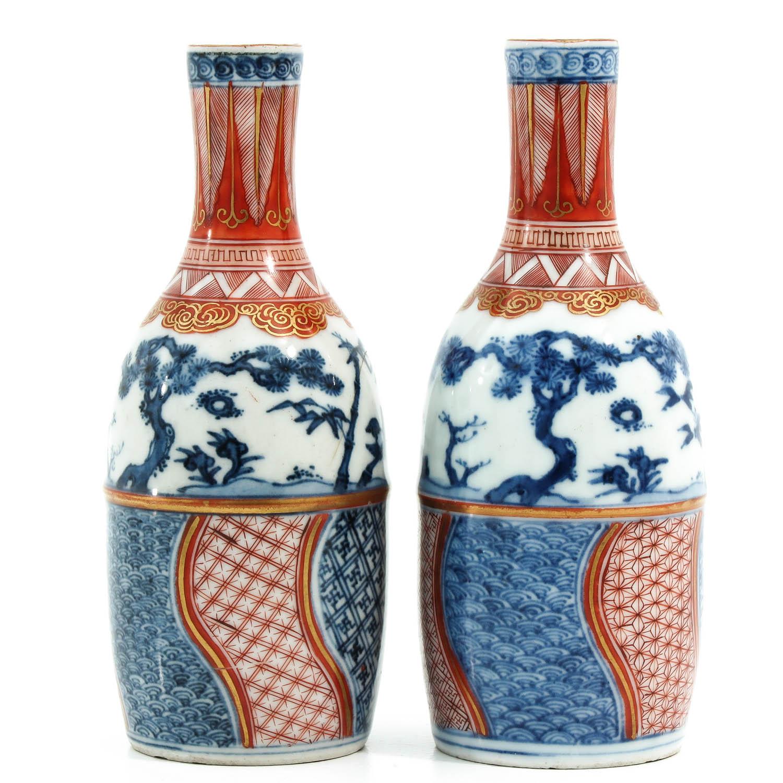 A Pair of Imari Bottles - Image 2 of 10