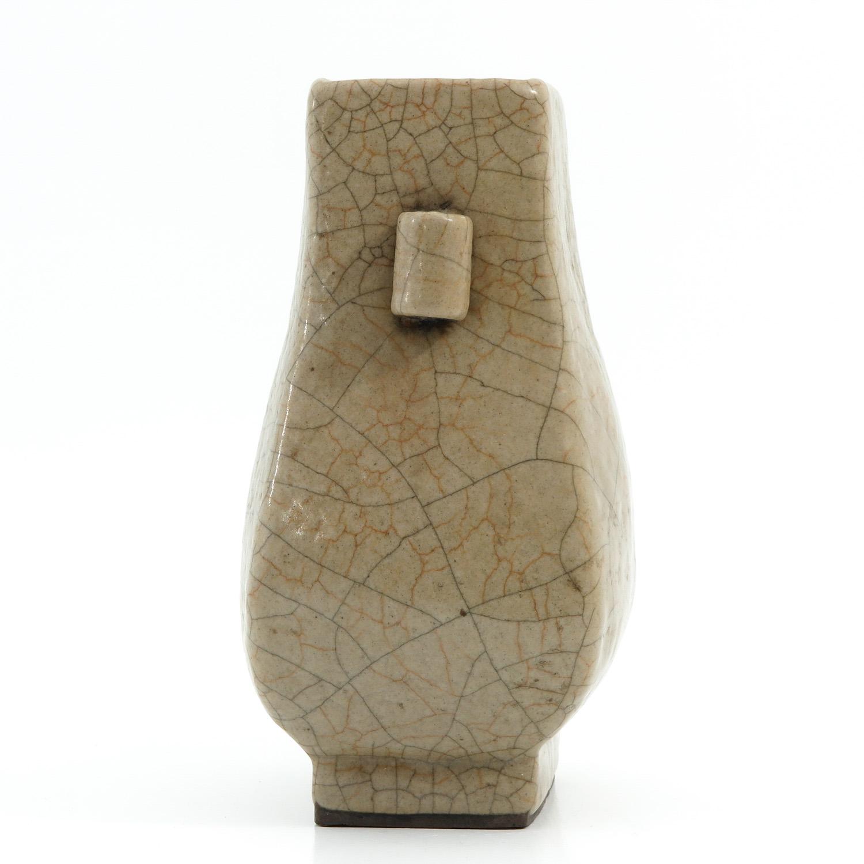 A Crackle Decor Hu Vase - Image 2 of 9