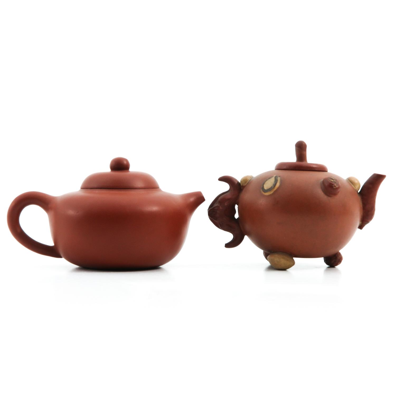 2 Yixing Teapots - Image 3 of 9