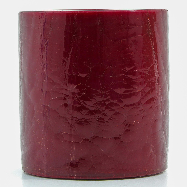 A Red Peking Glass Brushpot - Image 4 of 9