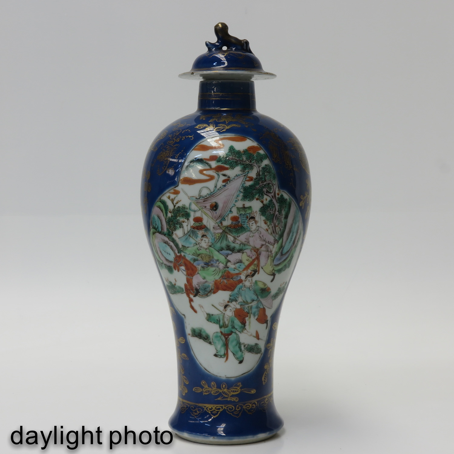 A Pair of Powder Blue Vases - Image 7 of 10