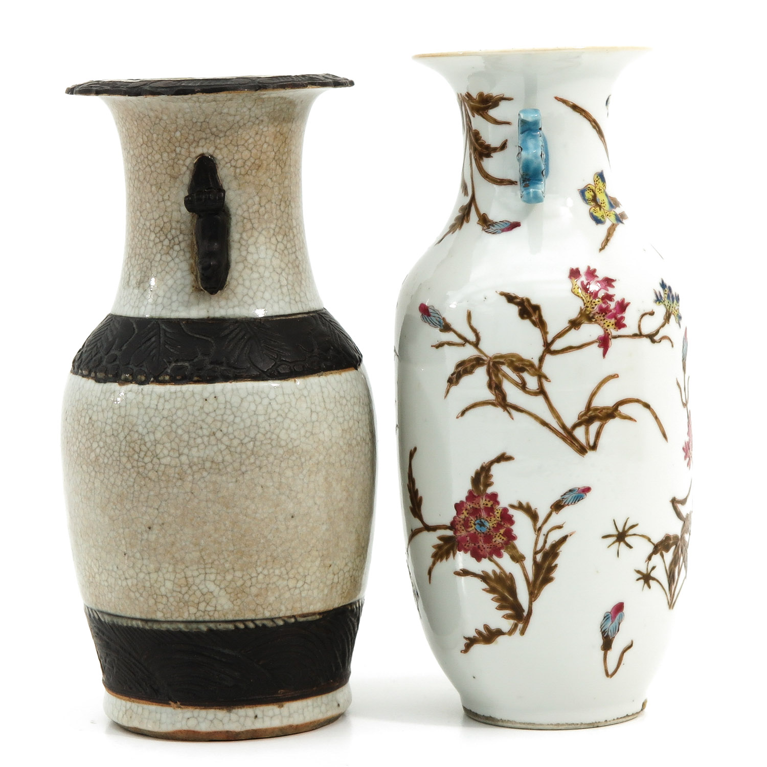 A Famille Rose and Nanking Vase - Image 4 of 9