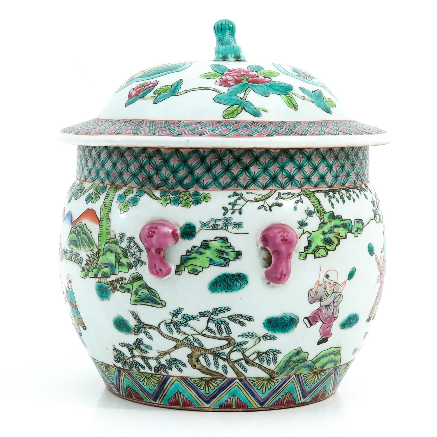 A Famille Rose Pot with Cover - Image 2 of 10