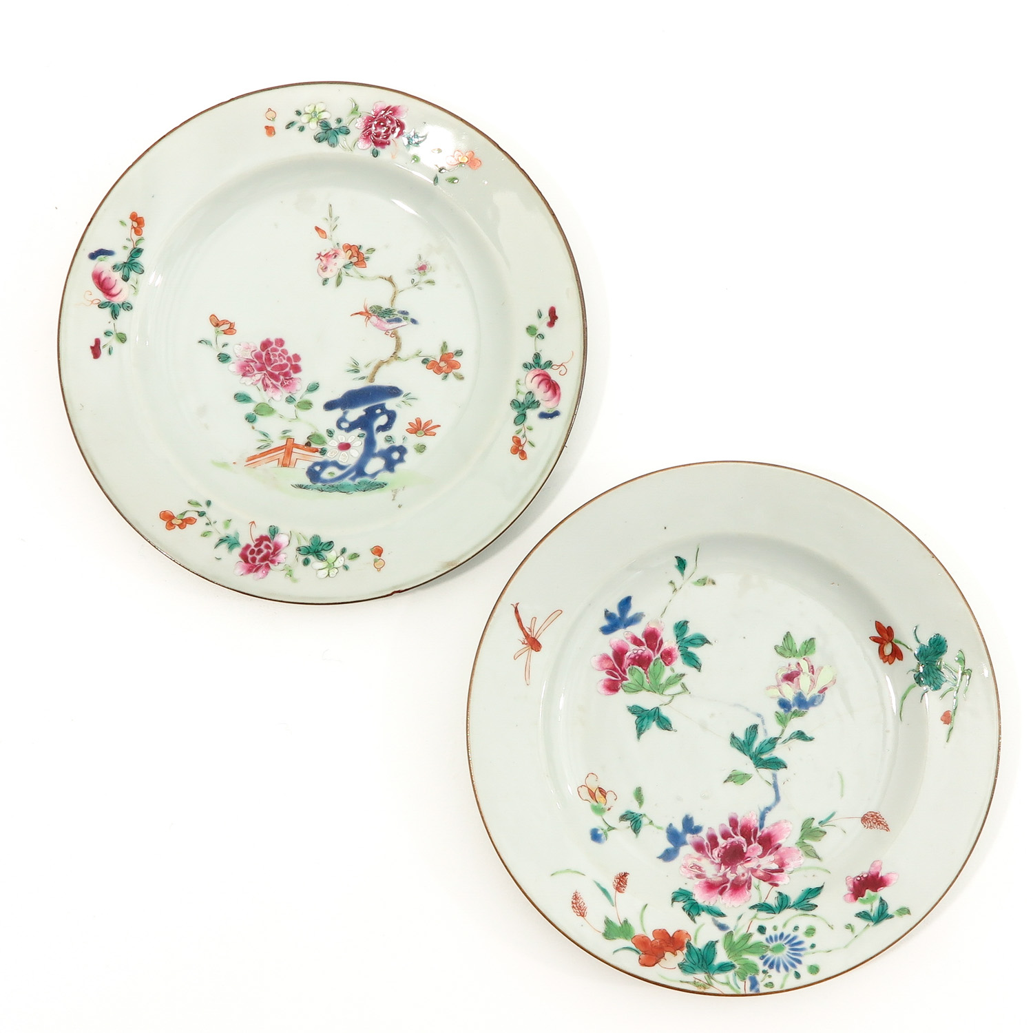 A Collection of 4 Famille Rose Plates - Image 3 of 10