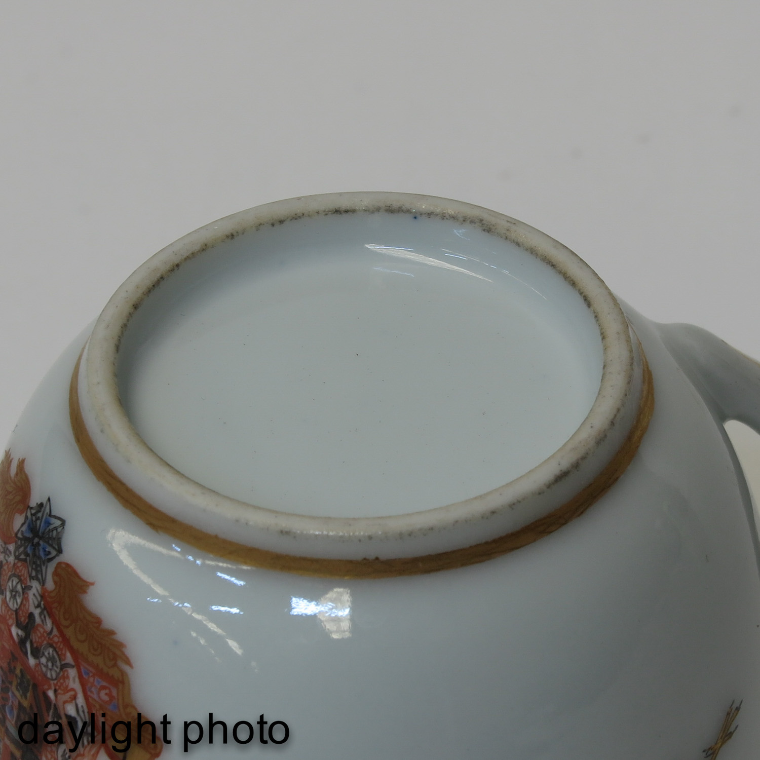 A Pair of Polychrome Decor Cups - Image 8 of 9