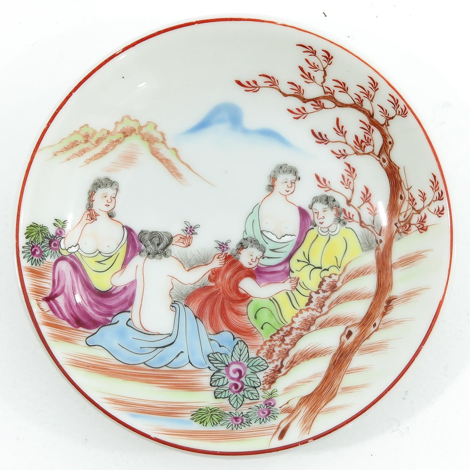 A Pair of Chine de Commande Small Plates - Image 3 of 9