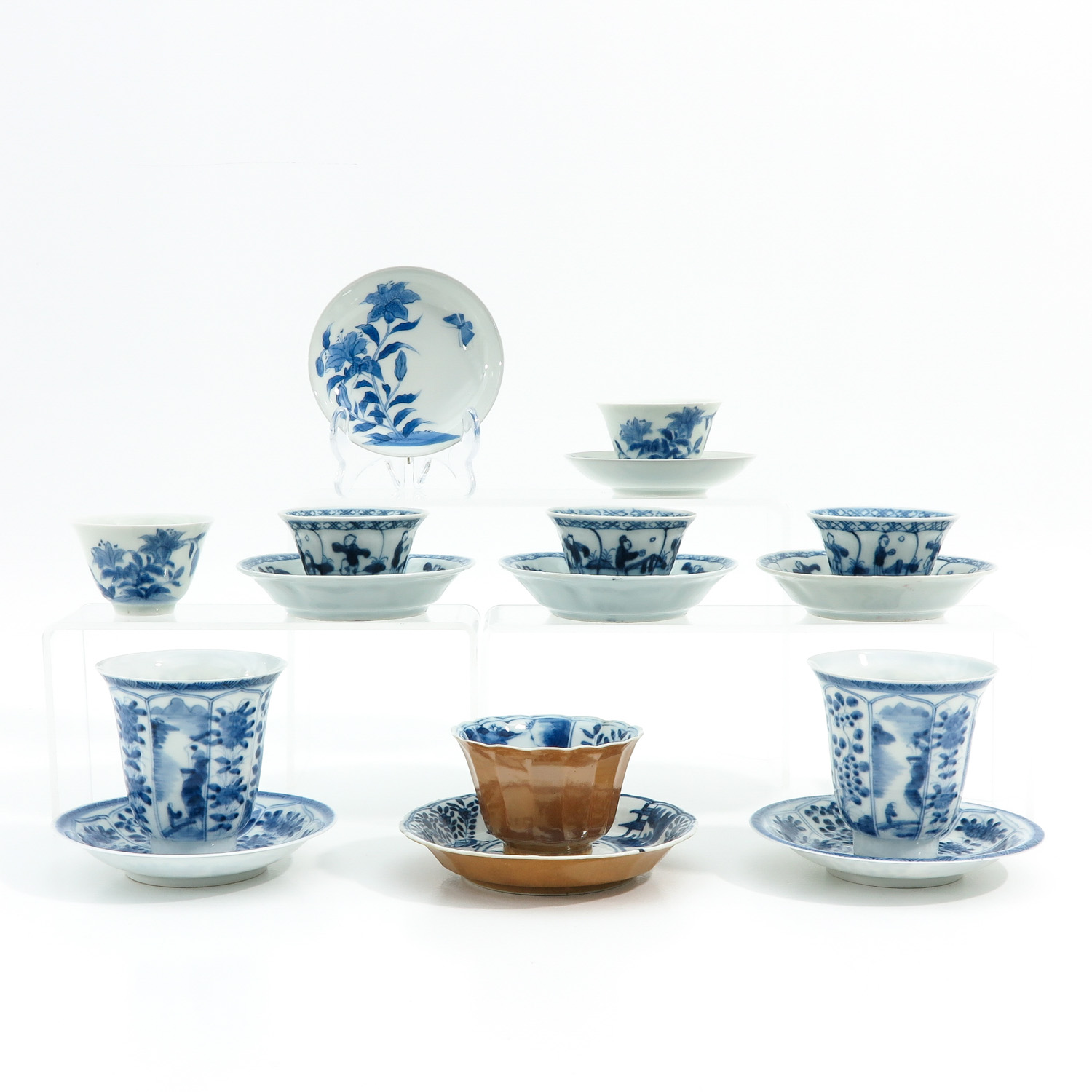 A Diverse Collection of Cups and Saucers