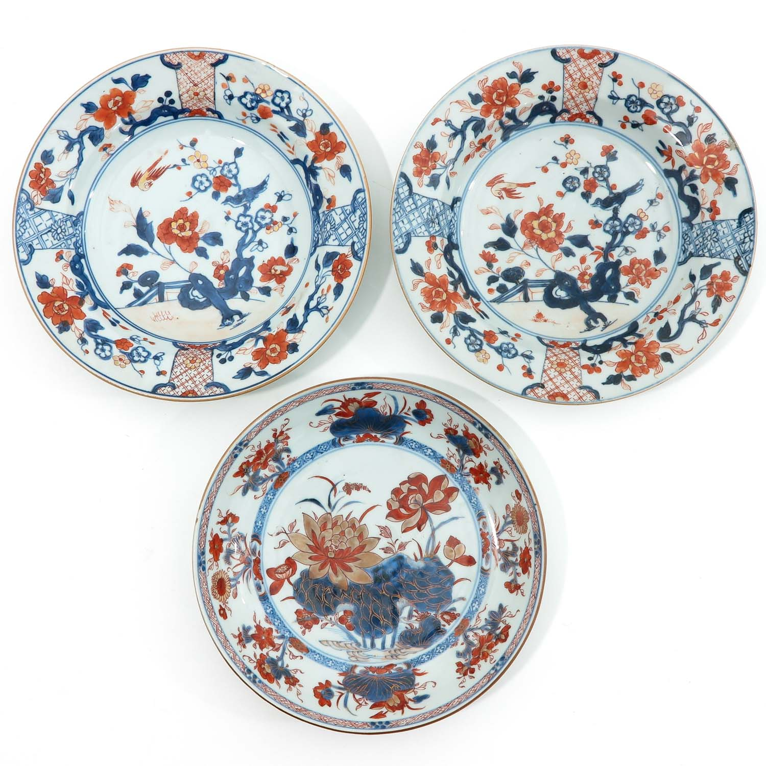 A Collection of 8 Imari Decor Plates - Image 3 of 10