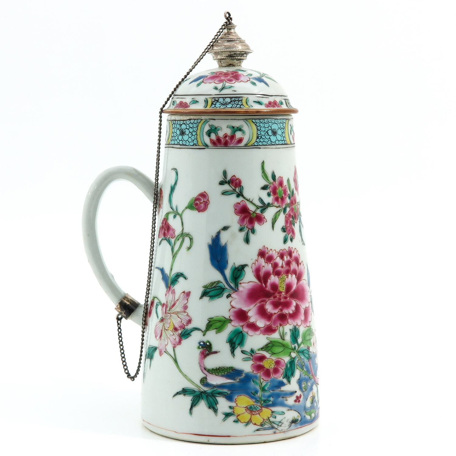 A Famille Rose Chocolate Pot - Image 3 of 10