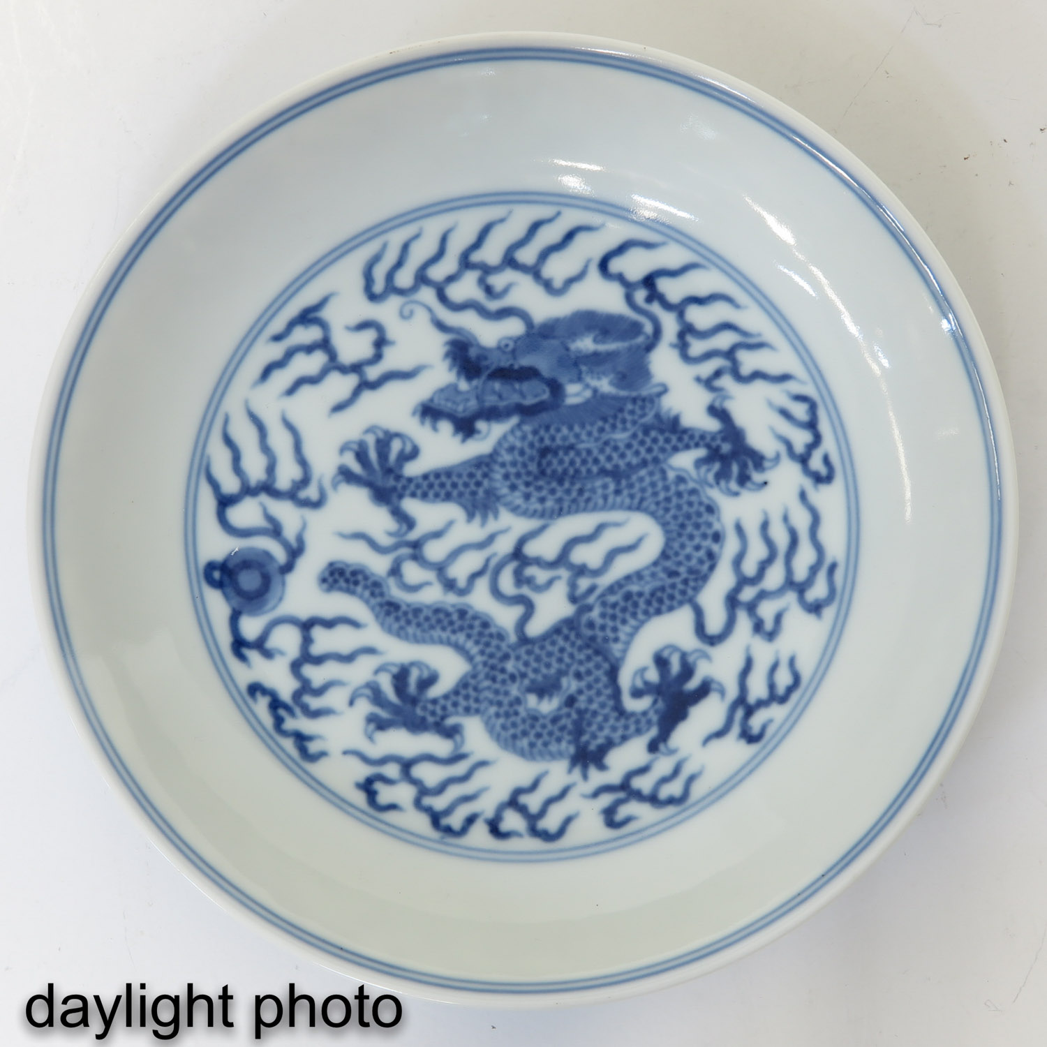 A Blue and White Dish - Image 3 of 6