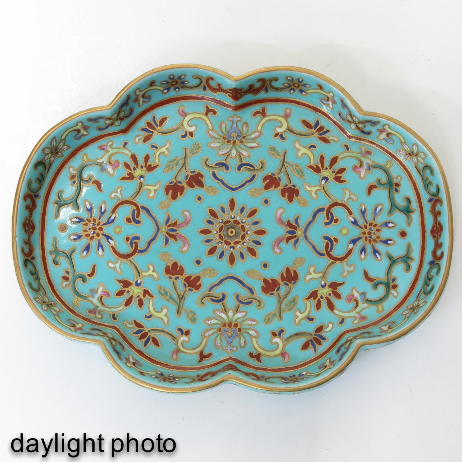 A Small Polychrome Tray - Image 5 of 8