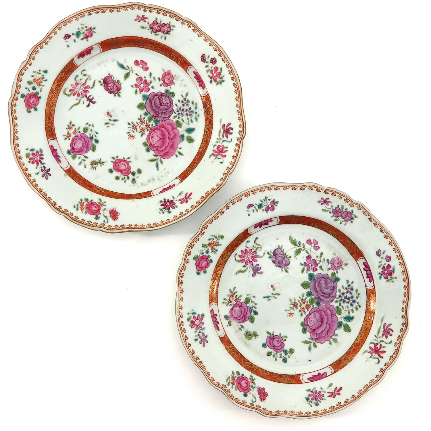 A Series of 5 Famille Rose Plates - Image 5 of 9