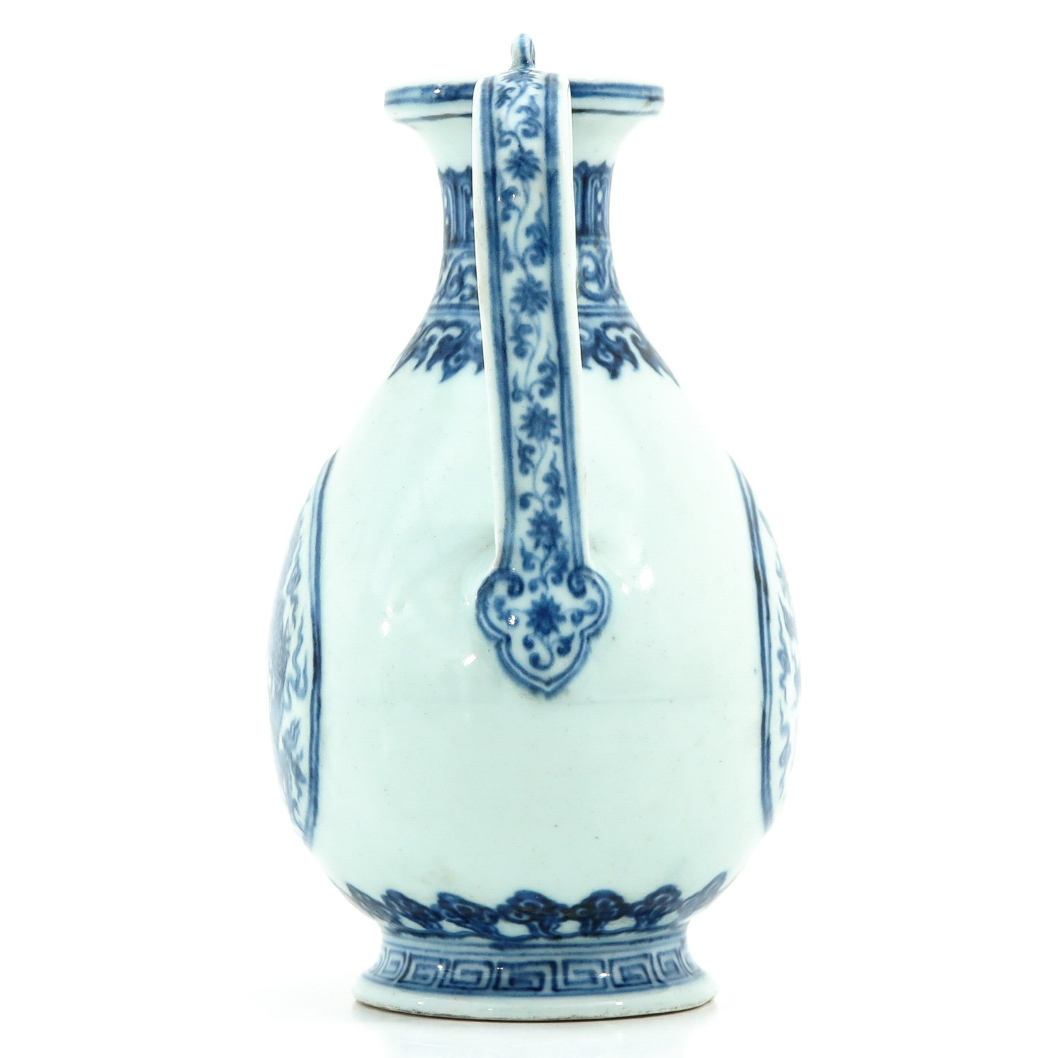A Blue and White Kendi - Image 2 of 9