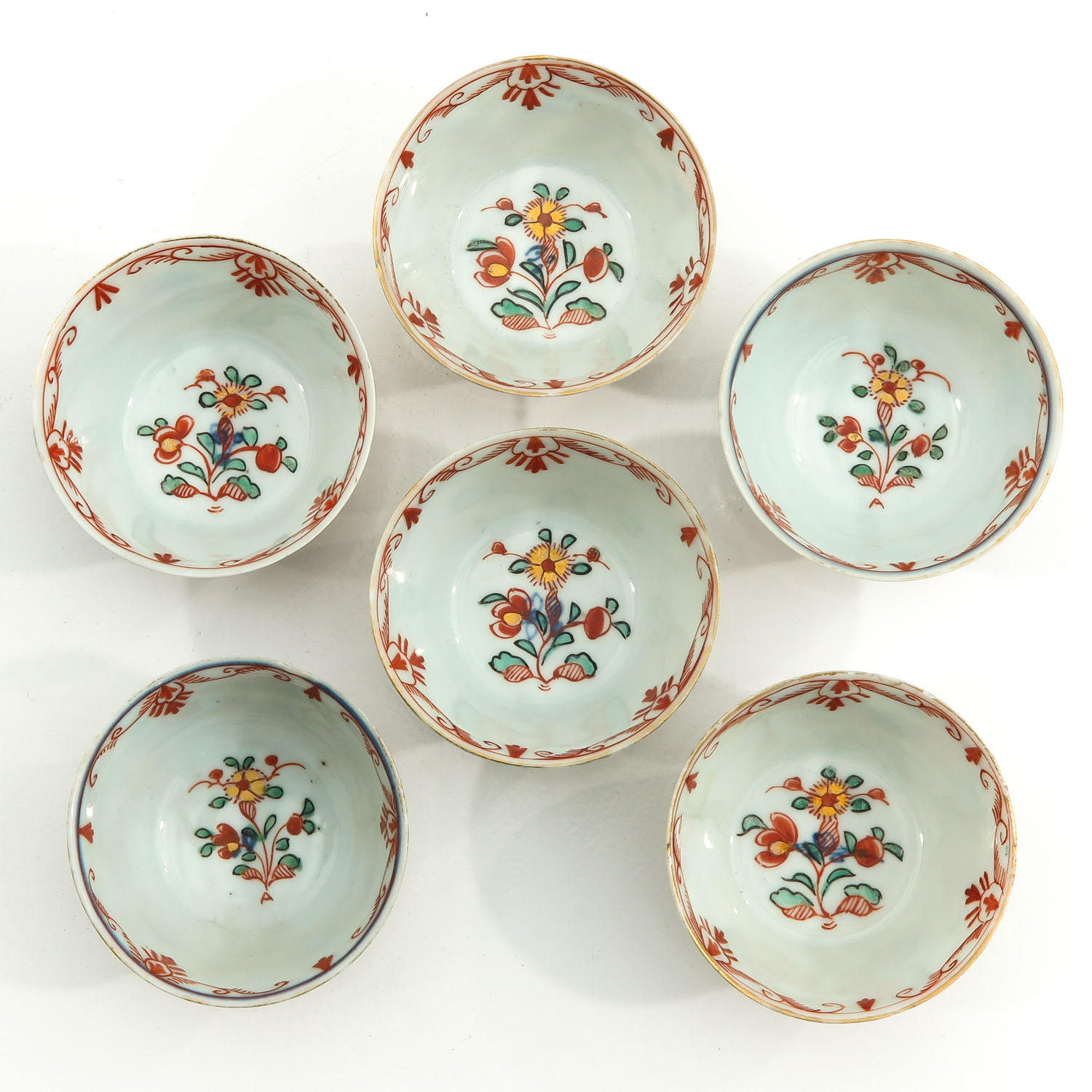 A Series of 6 Cups and Saucers - Image 5 of 10