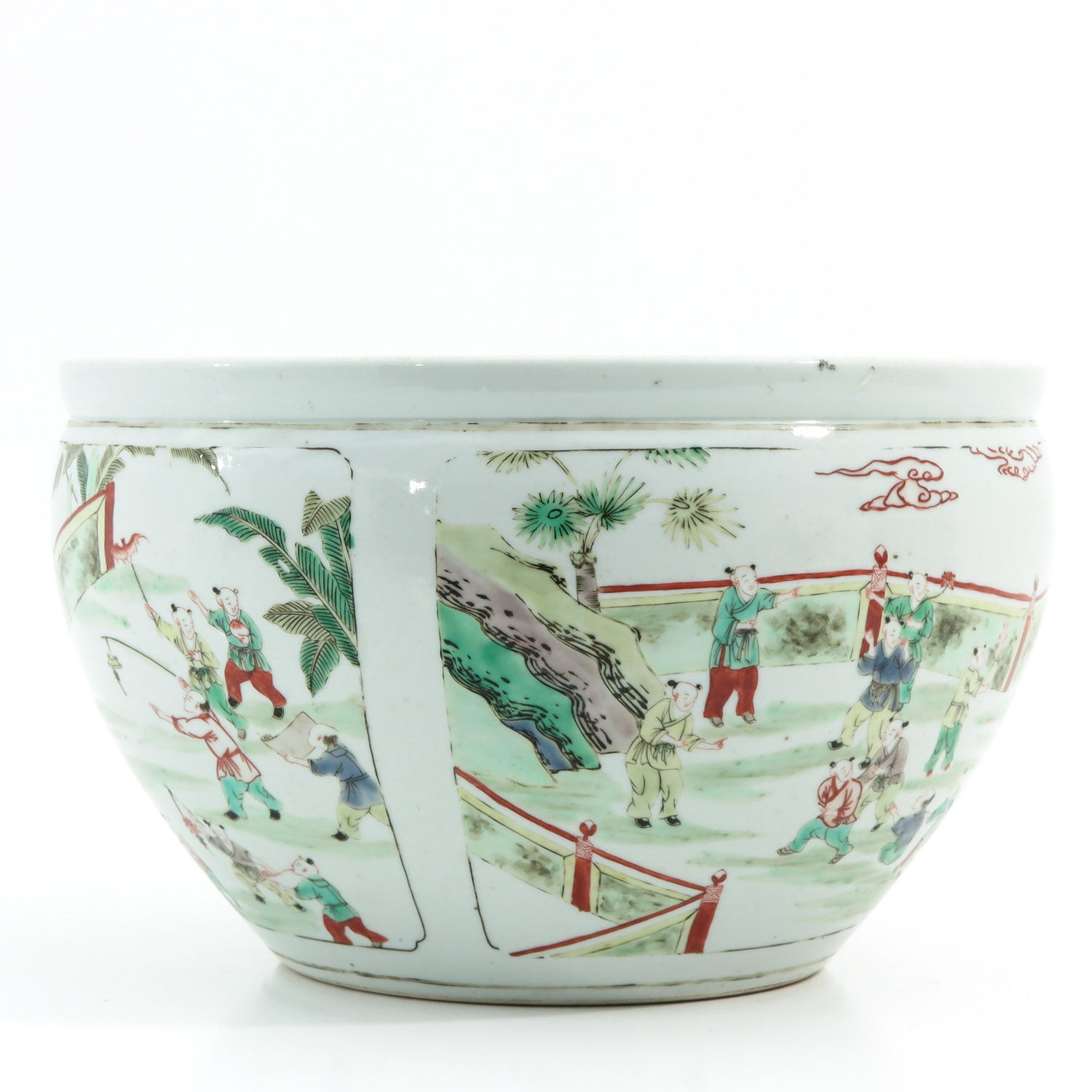 A Famille Verte Fish Bowl - Image 4 of 9