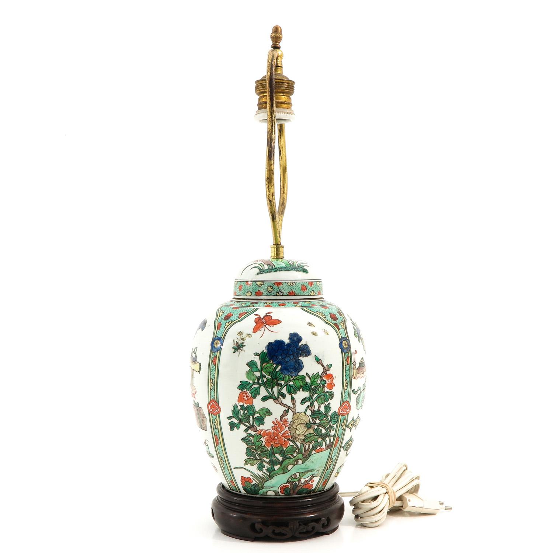A Famille Verte Lamp - Image 2 of 9