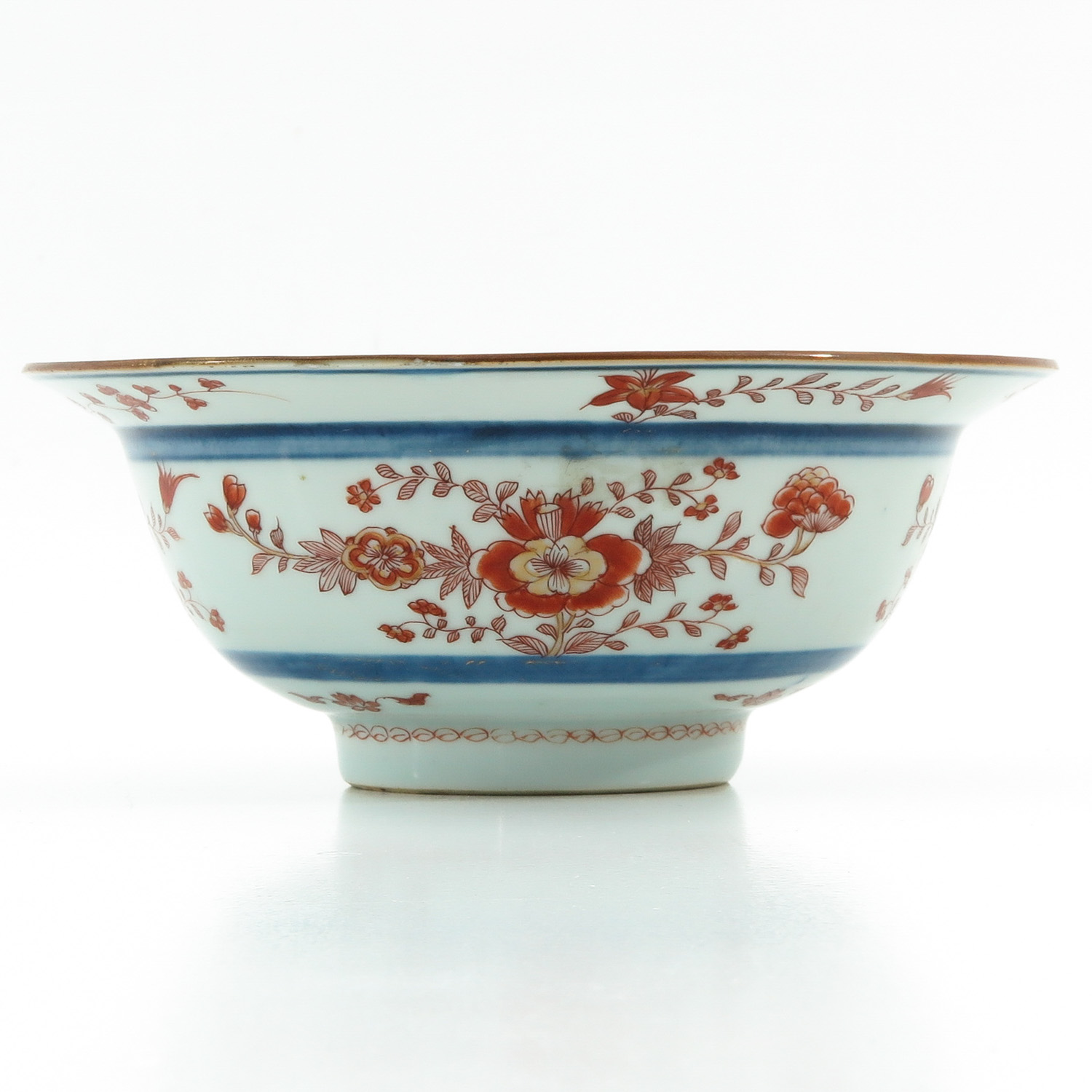 A Blue and Iron Red Bowl - Image 3 of 9
