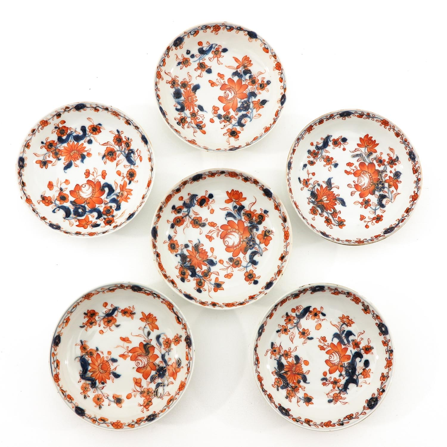 A Collection of Imari Cups and Saucers - Image 5 of 10