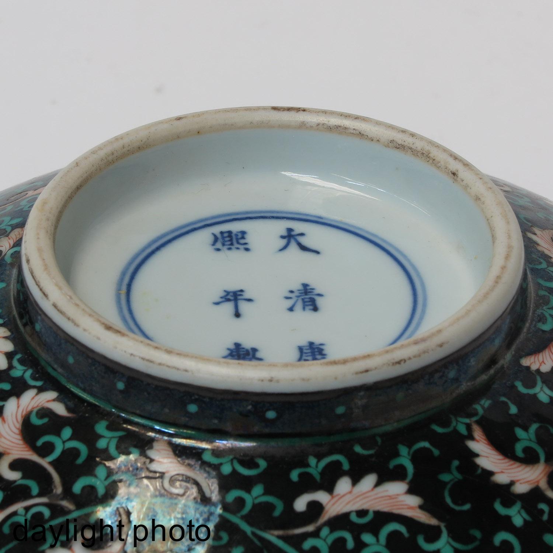 A Famille Noir Bowl - Image 8 of 10