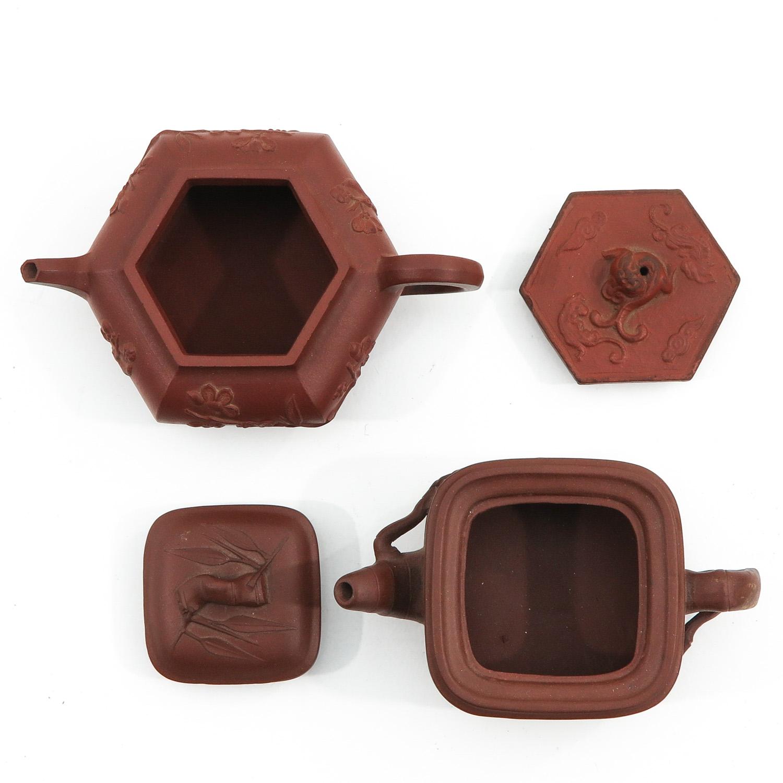2 Yixing Teapots - Image 5 of 10