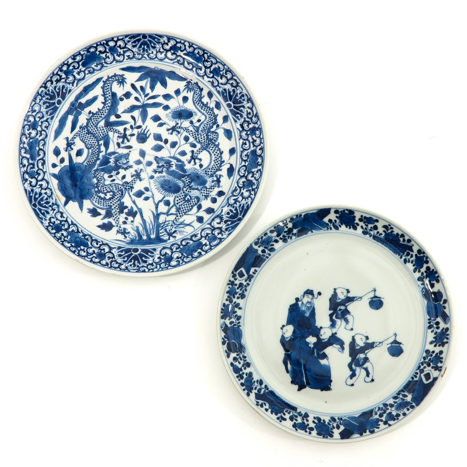 A Lot of 2 Blue and White Plates