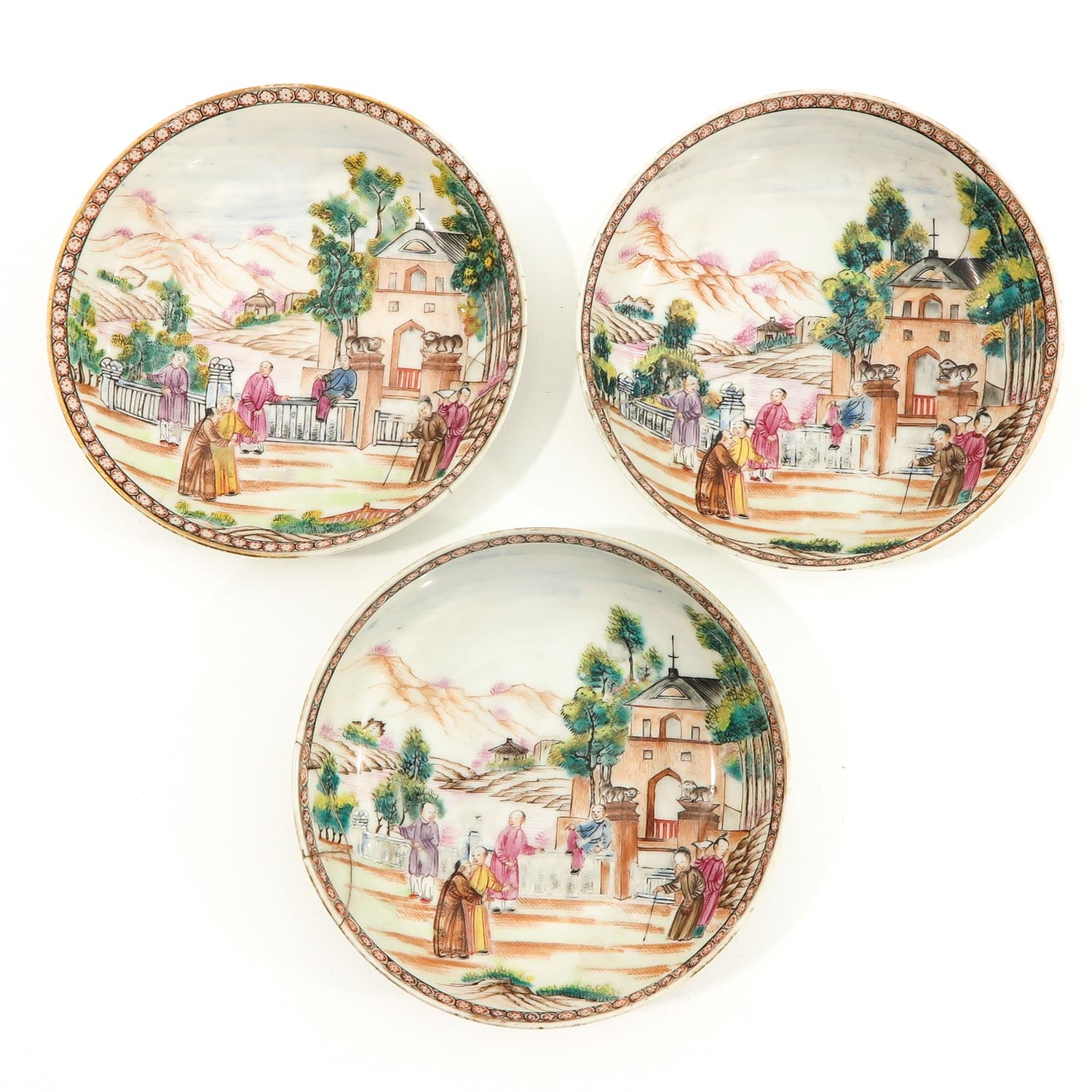 A Series of 3 Cups and Saucers - Image 7 of 10