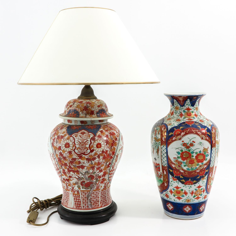An Imari Vase and Lamp - Image 4 of 9
