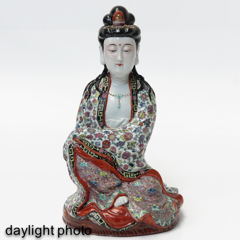 A Quanyin Sculpture - Image 7 of 10