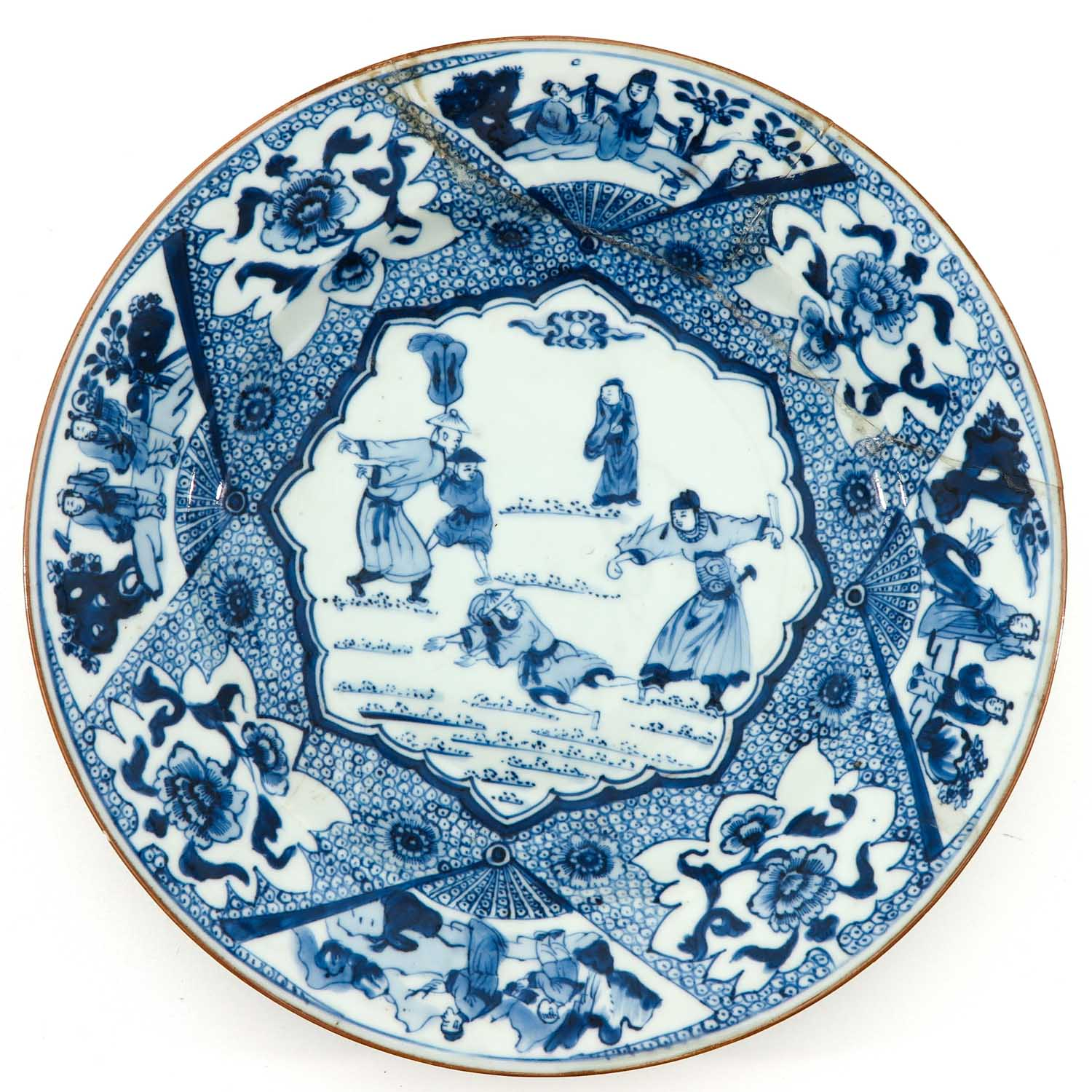 A Pair of Blue and White Plates - Image 5 of 10