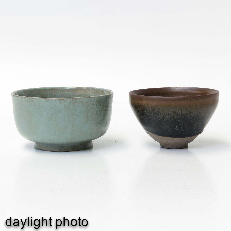 A Hare Fur Tea Bowl and Celandon Bowl - Image 7 of 10